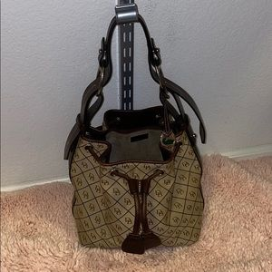 Dooney & Bourke Signature Canvas Bucket Bag